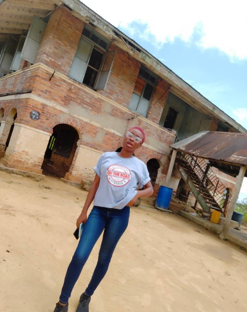 The author in front of Lugard's official residence